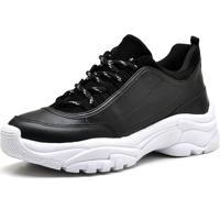Tênis Trivalle Shoes Couro Preto