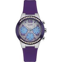 Relógio Guess Feminino Borracha Roxa - W0773L4