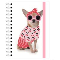 Caderno A4 96 Folhas Chihuahua Cerejinhas Lubi