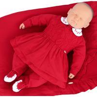 Saída De Maternidade Sonho Mágico Suedine Lady Vermelho