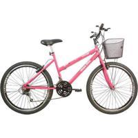 Bicicleta Mega Bike Rosy Sport Gold Aro 26 Freio V-Break Quadro Aço 21V - Unissex