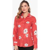 Camisa Floral - Vermelha & Brancadudalina