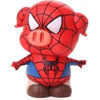 Cofre Real Arte Porquinho Homem Aranha Vermelho