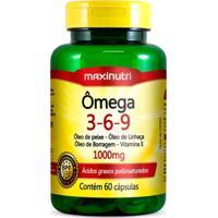 Ômega 3-6-9 - 60 Cápsulas - Maxinutri - Unissex