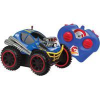 Carrinho De Controle Remoto - Hot Wheels - Cambalhota Azul - Candide