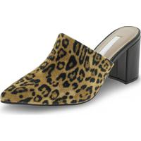 Sapato Feminino Mule Via Marte - 197501 Onça 33