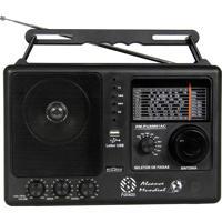 Som Portátil Rádio 8 Faixas Fm Oc Usb Preto Motobrás Bivolt Rm-Pusm81Ac