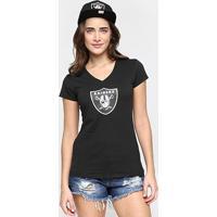 Camiseta New Era Nfl Babby Look Oakland Raiders Feminina - Feminino