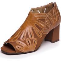 Sandalia Feminina Ankle Boot - Tamarindo / Capuccino 6004