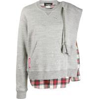 Dsquared2 Camisa Com Detalhe Xadrez - Cinza