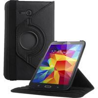 "Capa Giratória Inclinável Para Tablet Samsung Galaxy Tab3 7"" Sm-T110 T111 T113 T116 Preto"