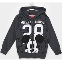 Jaqueta Moletom Infantil Kamylus Mickey Masculina - Masculino