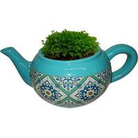 Cachepot Urban Home De Cerâmica Verde Teapot Portuguese N