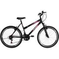 Bicicleta Aro 26 18M Status Belíssima Com Suspensão - Feminino