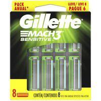 Carga Gillette Mach3 Sensitive Leve 8 Pague 6