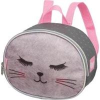 Lancheira Gatinha Meow Premium Infantil Pacific Feminina - Feminino-Cinza