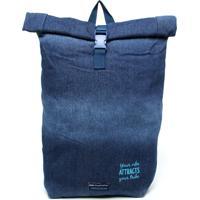 Mochila De Costas Dmw Gabriela Pugliesi Jeans Azul