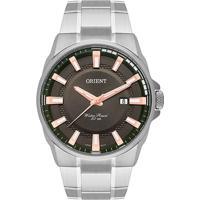 Relógio Orient Masculino Mbss1369 E1Sx Pulseira E Caixa Aço Prateado Mostrador Preto