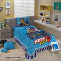 Jogo De Cama Patrulha Caninaâ® Solteiro- Azul Claro & Azulepper
