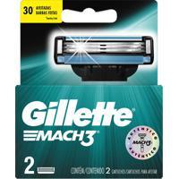 Lâminas Para Aparelho De Barbear Gillette Mach3 2 Unidades