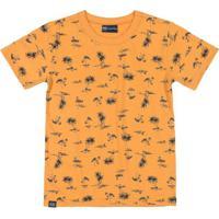 Camiseta Infantil Manga Curta Amarelo