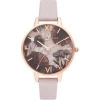 Relógio Olivia Burton Feminino Couro Rosa - Ob16Sp15