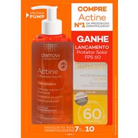Kit Actine Sabonete Líquido Anti Acne 400Ml + Protetor Solar Sunsafe Color Fps 60 50Ml