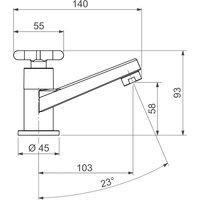 Torneira De Mesa Para Lavatório Deca 1197 Flex Bica Baixa Cromada