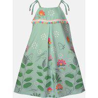 Vestido Mini Cherie Le Foliage Estampado Verde