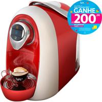 Máquina De Café Espresso E Multibebidas Automática Modo Vermelha Três Corações - 1,2L De Capacidade, Descarte Automático, Pressões Entre 15 E 2 Bar