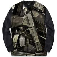 ... Blusa Bsc Pistols Full Print - Masculino-Preto b83ea797159