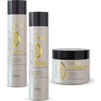 Kit Queratina Duetto 1 Shampoo 300Ml +1 Cond 300Ml+1 Máscara Tutano 500G - Unissex-Incolor