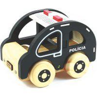 Brinquedo Madeira Coleçáo Carrinhos Policia