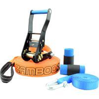 Slackline Zamboo Pro Black 30 Mts - Laranja