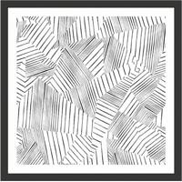 Quadro Decorativo Com Moldura Abstrato Ii Preto