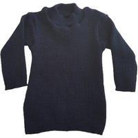 Blusa Cacharrel De Tricô Infantil 0 A 12 Azul Marinho