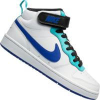 Tênis Cano Alto Nike Court Borough Mid 2 Gs - Infantil - Branco/Azul