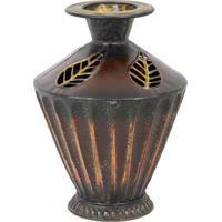 Vaso Decorativo De Metal Império