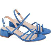Sandália Saltare Alexia Feminina - Feminino-Azul