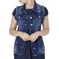 Colete Jeans Feminino - MuccaShop 994600dbd232a