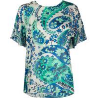 Twin-Set Camiseta Com Estampa Paisley - Azul
