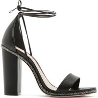 Sandália Salto Grosso Lace-Up Glam Black | Schutz