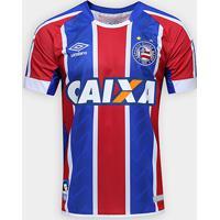 Netshoes  Camisa Bahia Ii 17 18 S Nº Torcedor Umbro Masculina - Masculino 1ee01ee630e6e