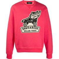 Dsquared2 Roller Twins Cotton Sweatshirt - Vermelho
