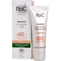 Protetor Solar Facial Roc Minesol Oil Control Tinted Gel Creme Fps 60 50G - Unissex