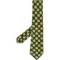 Kiton Gravata Com Padronagem Geométrica - Verde