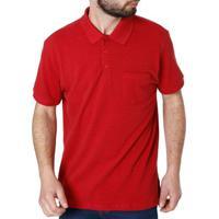 9330bc9021c96 Camisa Polo Manga Curta Masculina Vels Vermelho