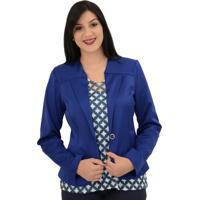 Casaco Energia Fashion Tricotina Azul