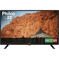 Tv Led 22´´ Philco Ptv22G50D, Conversor Digital Integrado, 2 Hdmi, 1 Usb, 60Hz - Preto
