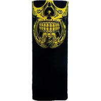 Bandana Multifuncional Guepardo Com Proteção Uv Breeze Black Skull Mexican